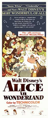 Alice in Wonderland - 14 x 36 Movie Poster - Insert Style A