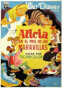 Alice in Wonderland - 11 x 17 Movie Poster - Spanish Style A