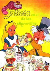 Alice in Wonderland - 43 x 62 Movie Poster - Spanish Style A