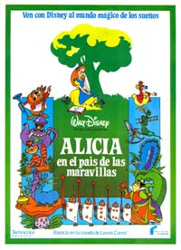 Alice in Wonderland - 43 x 62 Movie Poster - Spanish Style B
