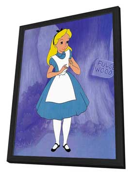 Alice in Wonderland - 11 x 17 Movie Poster - Style B - in Deluxe Wood Frame