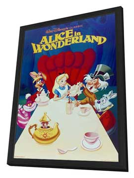Alice in Wonderland - 11 x 17 Movie Poster - Style E - in Deluxe Wood Frame
