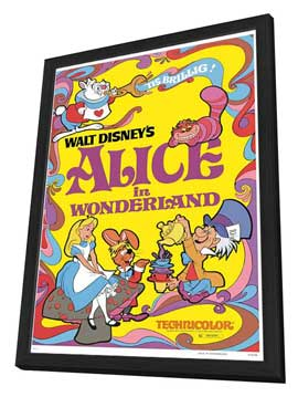 Alice in Wonderland - 27 x 40 Movie Poster - Style D - in Deluxe Wood Frame