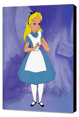 Alice in Wonderland - 11 x 17 Movie Poster - Style B - Museum Wrapped Canvas