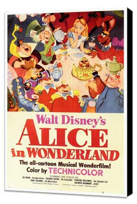 Alice in Wonderland - 27 x 40 Movie Poster - Style A - Museum Wrapped Canvas