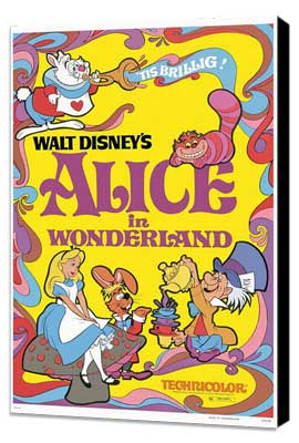Alice in Wonderland - 27 x 40 Movie Poster - Style D - Museum Wrapped Canvas