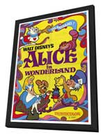 Alice in Wonderland - 27 x 40 Movie Poster - Style A - in Deluxe Wood Frame