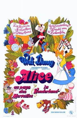 Alice in Wonderland - 11 x 17 Movie Poster - French Style A