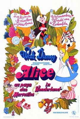 Alice in Wonderland - 27 x 40 Movie Poster - French Style A