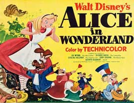 Alice in Wonderland - 11 x 17 Movie Poster - Style B