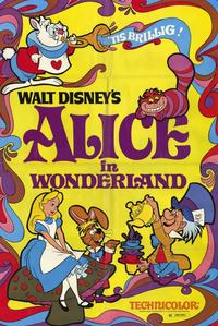 Alice in Wonderland - 11 x 17 Movie Poster - Style A - Museum Wrapped Canvas