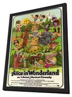 Alice in Wonderland (X) - 11 x 17 Movie Poster - Style A - in Deluxe Wood Frame
