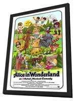 Alice in Wonderland (X) - 27 x 40 Movie Poster - Style A - in Deluxe Wood Frame