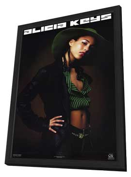Alicia Keys - 11 x 17 Music Poster - Style A - in Deluxe Wood Frame