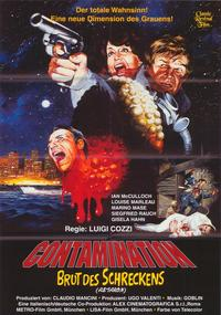 Alien Contamination - 11 x 17 Movie Poster - Spanish Style A