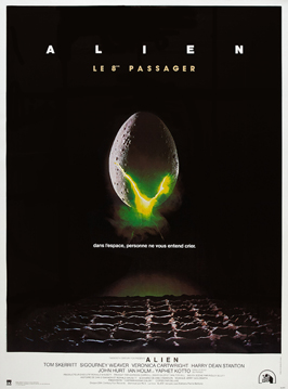 Alien - 27 x 40 Movie Poster - French Style A
