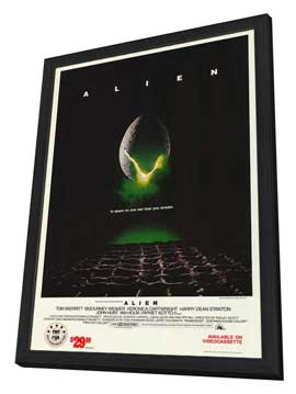 Alien - 27 x 40 Movie Poster - Style A - in Deluxe Wood Frame