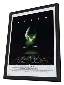 Alien - 27 x 40 Movie Poster - Style E - in Deluxe Wood Frame
