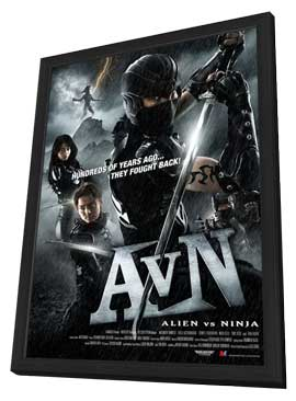 Alien Vs. Ninja - 11 x 17 Movie Poster - Japanese Style A - in Deluxe Wood Frame