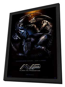 Alien Vs. Predator - 27 x 40 Movie Poster - Style A - in Deluxe Wood Frame