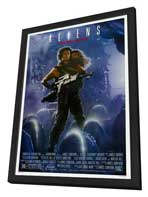 Aliens - 27 x 40 Movie Poster - Style B - in Deluxe Wood Frame