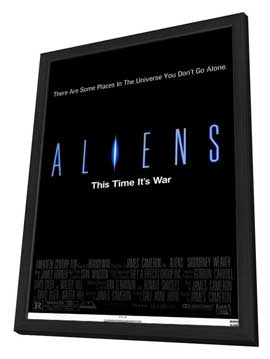 Aliens - 27 x 40 Movie Poster - Style C - in Deluxe Wood Frame