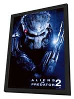 Aliens Vs. Predator: Requiem - 27 x 40 Movie Poster - Style E - in Deluxe Wood Frame