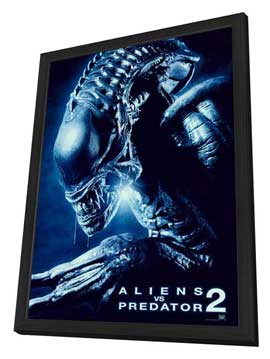 Aliens Vs. Predator: Requiem - 27 x 40 Movie Poster - Style D - in Deluxe Wood Frame
