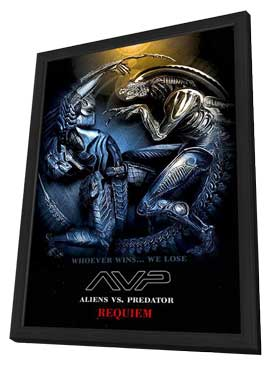 Aliens Vs. Predator: Requiem - 11 x 17 Movie Poster - Style M - in Deluxe Wood Frame