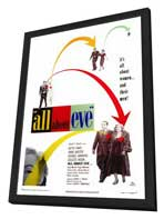 All About Eve - 27 x 40 Movie Poster - Style A - in Deluxe Wood Frame