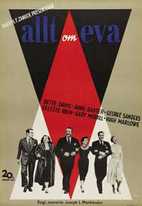 All About Eve - 11 x 17 Movie Poster - Swedish Style A