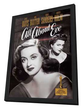 All About Eve - 27 x 40 Movie Poster - Style B - in Deluxe Wood Frame