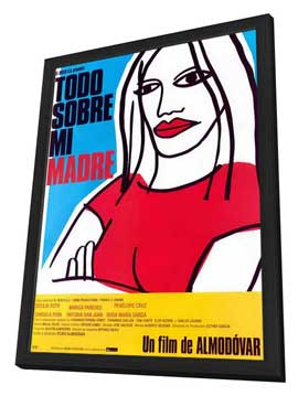 All About My Mother - 11 x 17 Movie Poster - Spanish Style A - in Deluxe Wood Frame