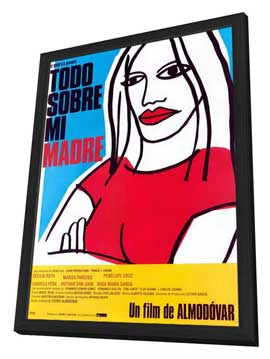All About My Mother - 27 x 40 Movie Poster - Spanish Style A - in Deluxe Wood Frame