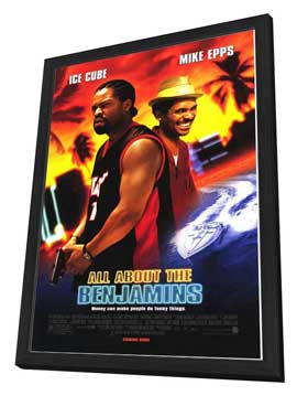 All About the Benjamins - 27 x 40 Movie Poster - Style A - in Deluxe Wood Frame