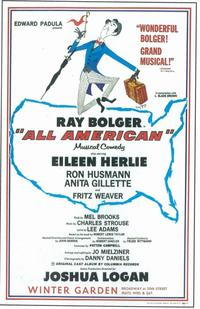 All American (Broadway) - 11 x 17 Poster - Style A
