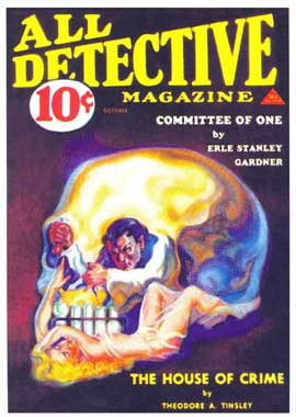 All Detective Magazine (Pulp) - 11 x 17 Retro Book Cover Poster