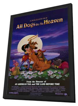 All Dogs Go to Heaven - 27 x 40 Movie Poster - Style A - in Deluxe Wood Frame