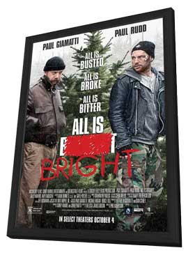 All Is Bright - 27 x 40 Movie Poster - Style A - in Deluxe Wood Frame