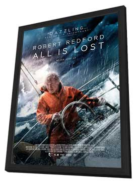 All is Lost - 27 x 40 Movie Poster - Style A - in Deluxe Wood Frame