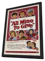 All Mine to Give - 11 x 17 Movie Poster - Style A - in Deluxe Wood Frame