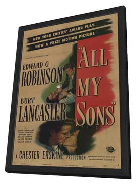 All My Sons - 11 x 17 Movie Poster - Style A - in Deluxe Wood Frame