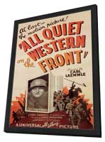All Quiet on the Western Front - 11 x 17 Movie Poster - Style A - in Deluxe Wood Frame