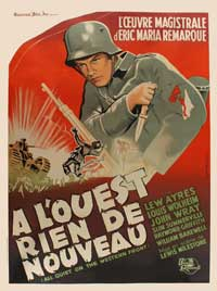 All Quiet on the Western Front - 27 x 40 Movie Poster - French Style A