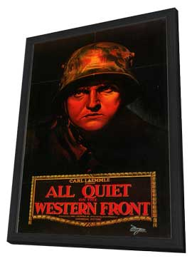 All Quiet on the Western Front - 27 x 40 Movie Poster - Style F - in Deluxe Wood Frame