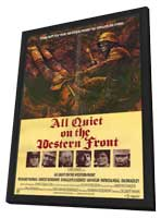 All Quiet On the Western Front - 27 x 40 Movie Poster - Style A - in Deluxe Wood Frame