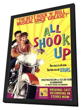 All Shook Up (Broadway) - 11 x 17 Poster - Style A - in Deluxe Wood Frame