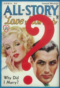 All-Story Love Tales (Pulp) - 11 x 17 Pulp Poster - Style A