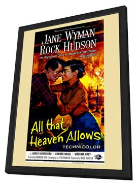All That Heaven Allows - 27 x 40 Movie Poster - Style A - in Deluxe Wood Frame