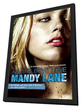 All the Boys Love Mandy Lane - 11 x 17 Movie Poster - French Style A - in Deluxe Wood Frame